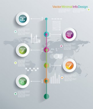 Timeline infographics, elements and icons