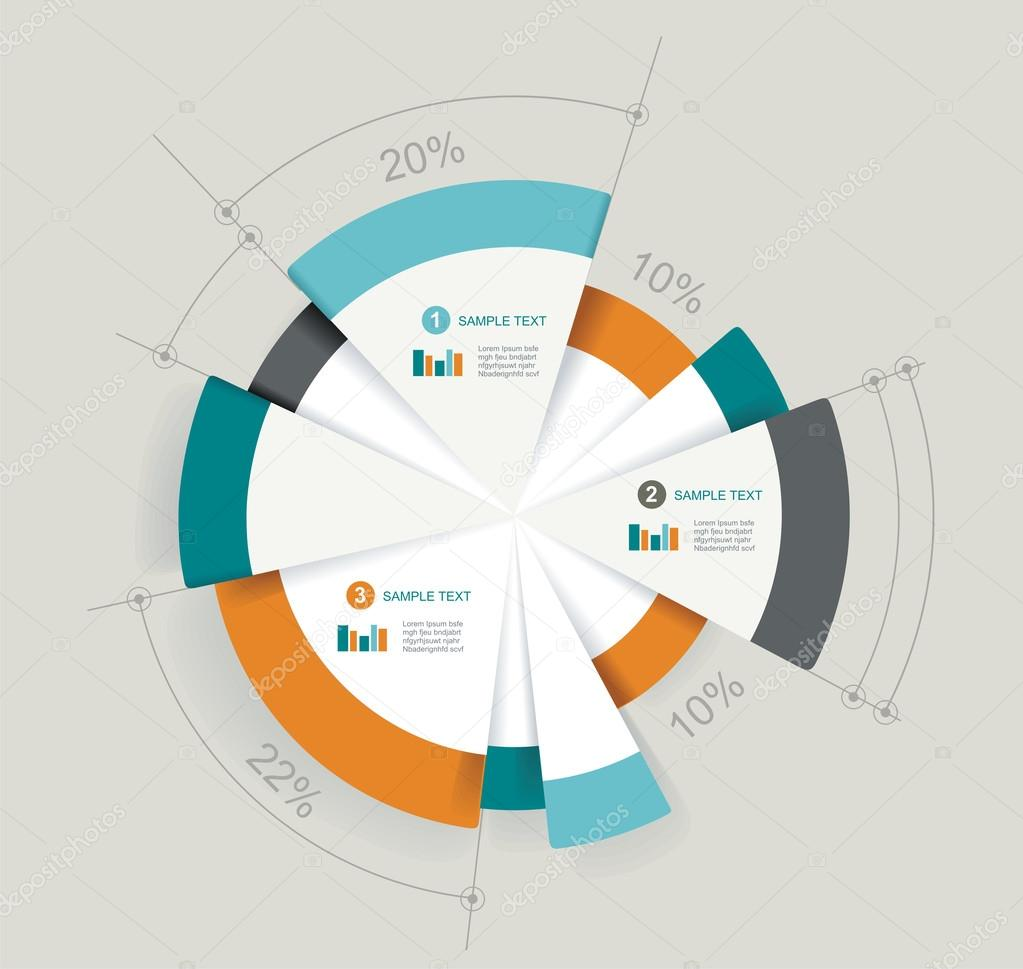 Business pie chart for documents and reports for documents
