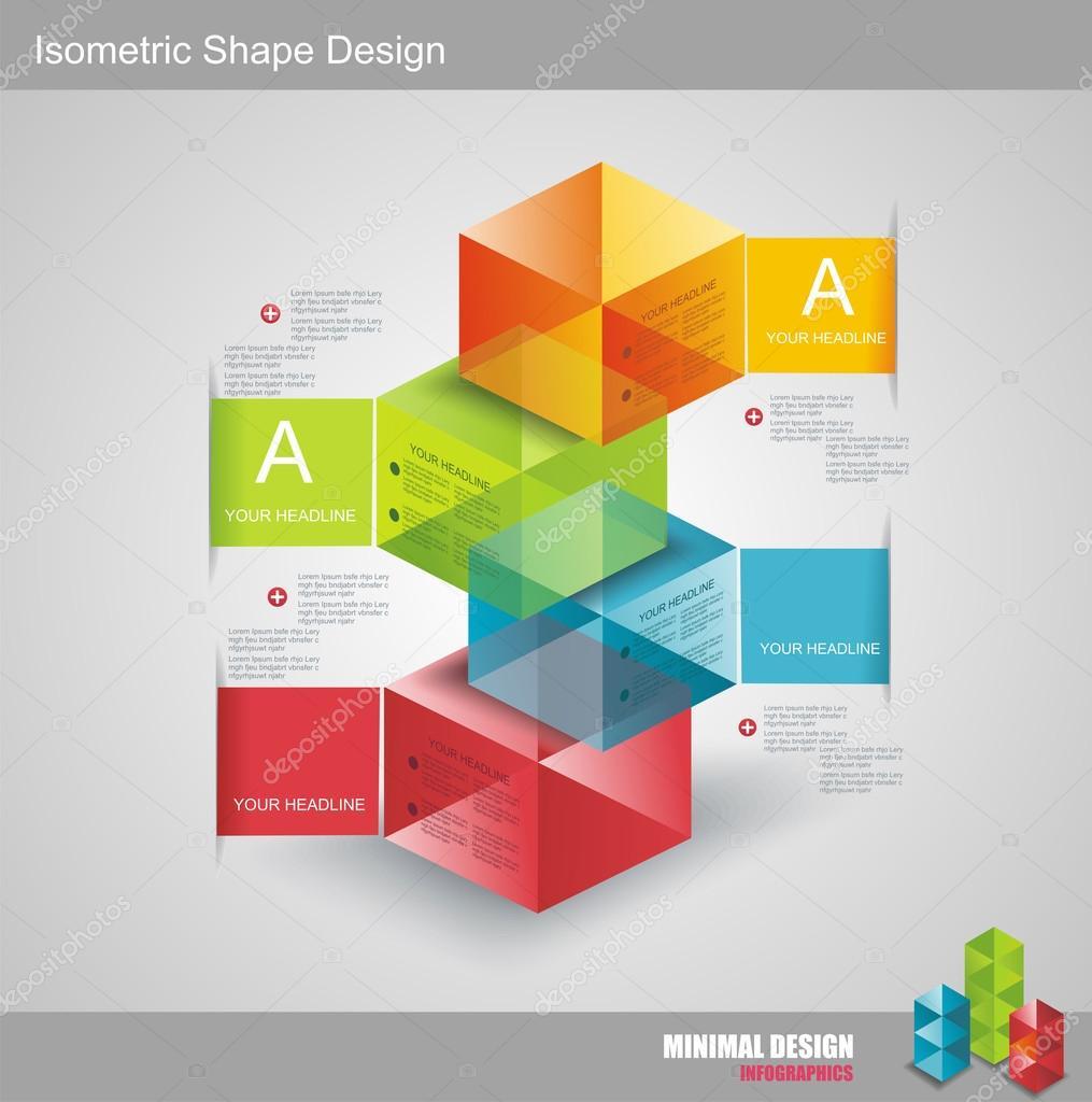 moderno diseño plantilla isométrica del estilo — Vector de stock ...