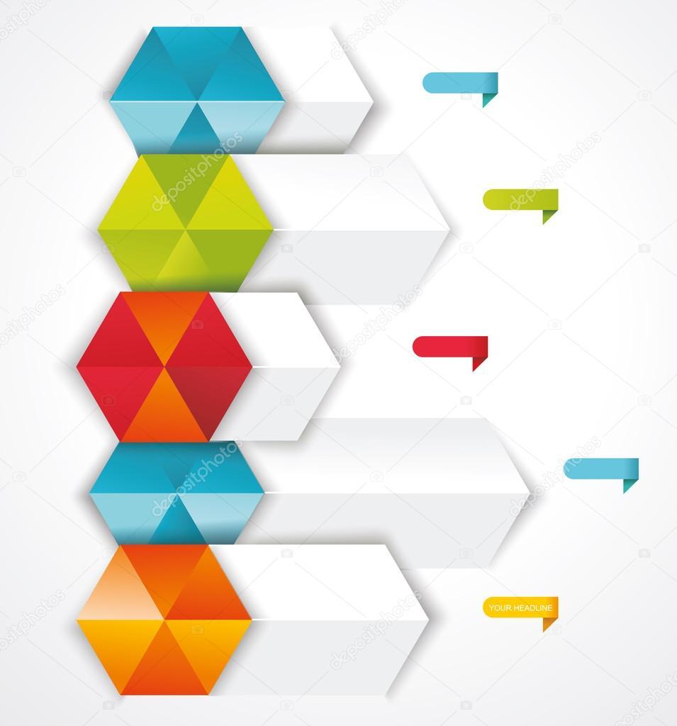 moderno diseño plantilla isométrica del estilo — Archivo Imágenes ...