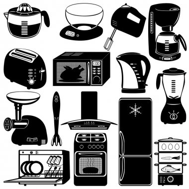 Collection of kitchen appliances