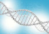 šroubovice DNA na barevném pozadí