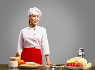 portrait of asian cook