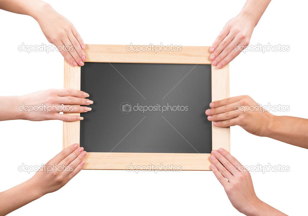 фотобанк держит раму анализируемый вид обвязки
