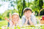 Fotografia bambini al picnic