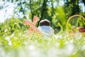 Fényképek fiú: piknik