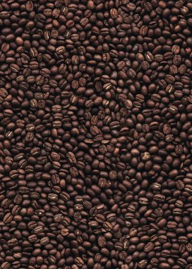 Coffee beans seamless pattern background