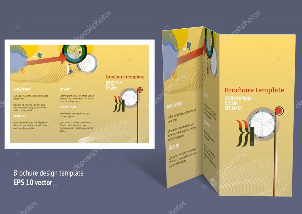 Brochure Booklet Zfold Layout Editable Design Template Stock - Brochure booklet templates