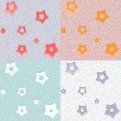 Fotografie Sterne und Punkte geometrische nahtlose Muster