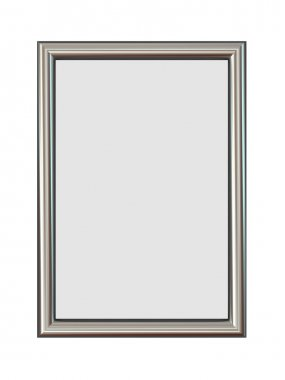 Vertical Metal Frame Isolated on White.