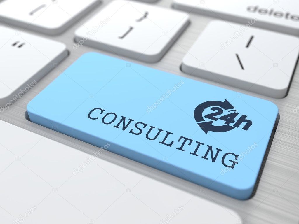 Service Concept - The Blue Consulting Button.