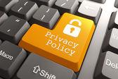 klávesnice s tlačítkem zásady ochrany osobních údajů.