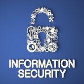 koncept bezpečnosti informací.