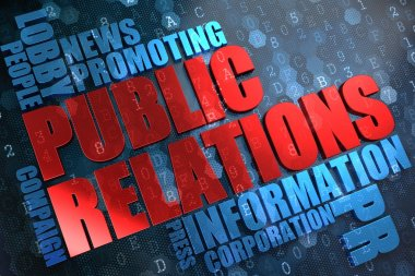 Public Relations. Wordcloud Concept.