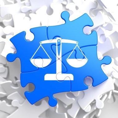 Puzzle Pieces: Justice Concept.