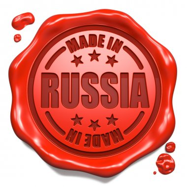 Made in Russia - Stamp on Red Wax Seal.