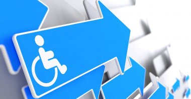 Disabled Icon on Blue Arrow.