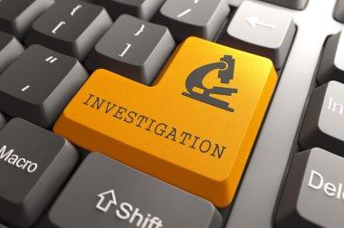 Keyboard with Investigation Orange Button.