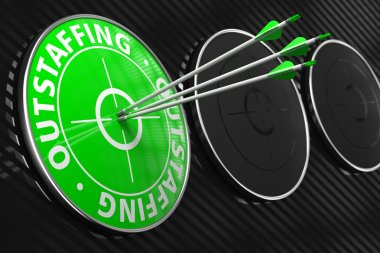 Outstaffing Concept on Green Target.