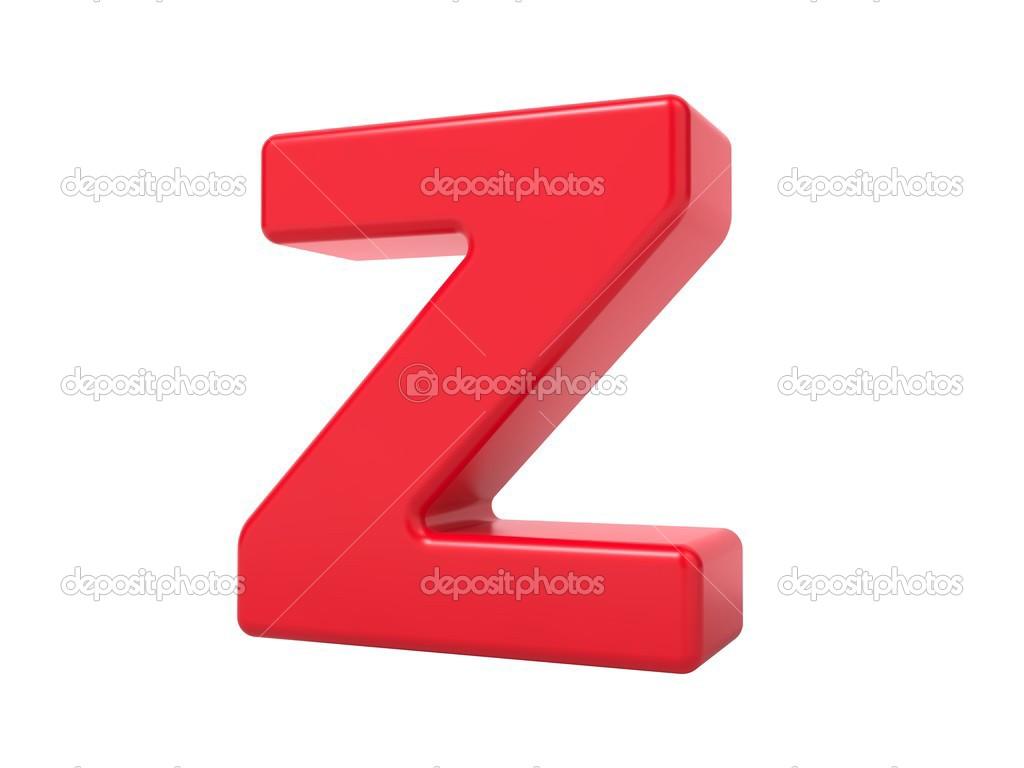 Red 3D Letter Z. — Stock Photo © tashatuvango #37132417