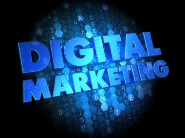 Digital Marketing on Dark Background.