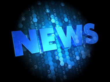 News on Dark Digital Background.