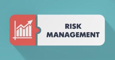 Risk Management Concept in Flat Design.