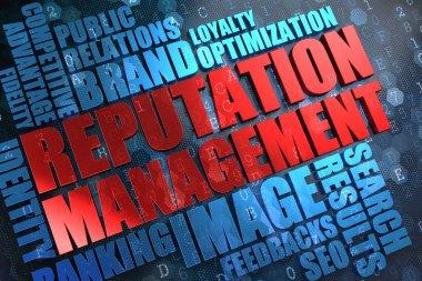 Reputation Management - Wordcloud Concept.