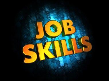 Job Skills Concept on Digital Background.