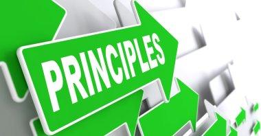 Principles on Green Direction Arrow Sign.