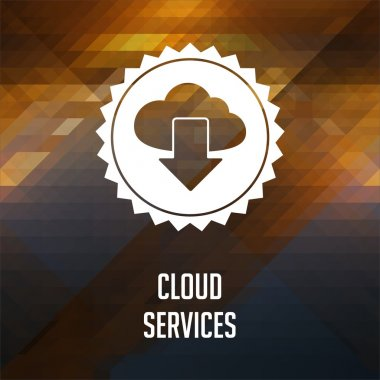 Cloud Services Concept on Triangle Background.