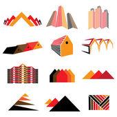Fotografia icone di edifici per uffici, abitazioni residenziali  case. Inoltre ha