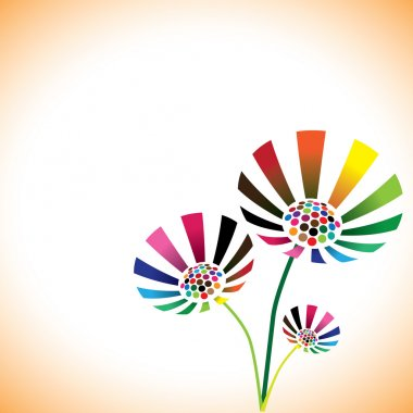 Pretty colorful spring flower bunch with copy space for text. Th