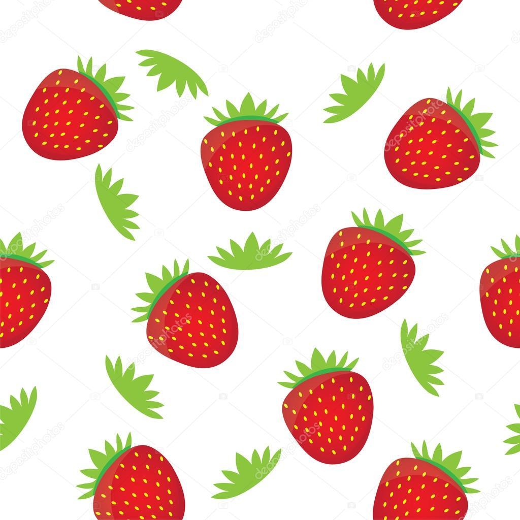 Nahtlose Hintergrund Muster Vorlage - bunte Erdbeeren Früchte ...