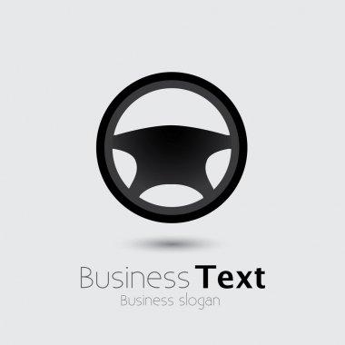 Car, vehicle or automobile steering wheel icon or symbol- vector