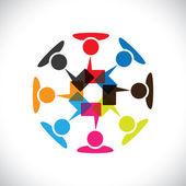 Koncepció vektor grafikus-szociális média kölcsönhatás  kommunikáció