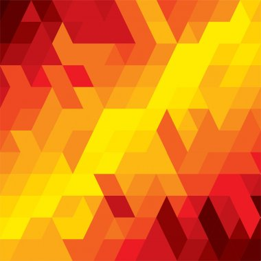 abstract colorful background of diamond, cube & square shapes- v