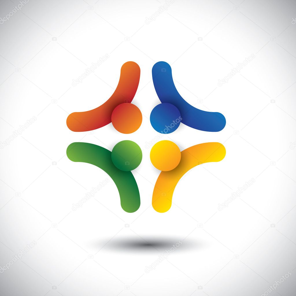 Colorful design of community of people symbols working as team colorful design of community of people symbols working as team this vector graphic can represent unity and solidarity in group or team of people biocorpaavc