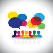 Online-Personen-Symbole in sozialen Netzwerken  Medien - Vektorgrafik