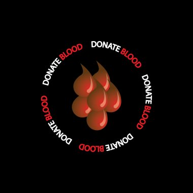 blood donation concept vector - group of red blood drops icons