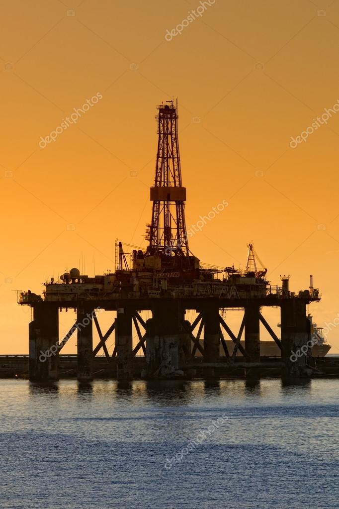 Dawns a hot day on an oil plant