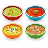 čtyři polévka