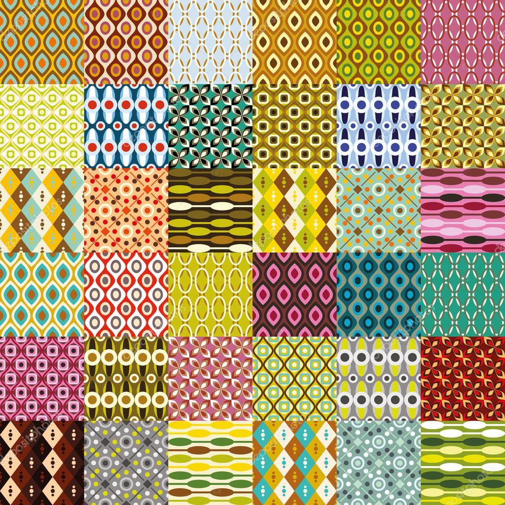 big retro pattern collection