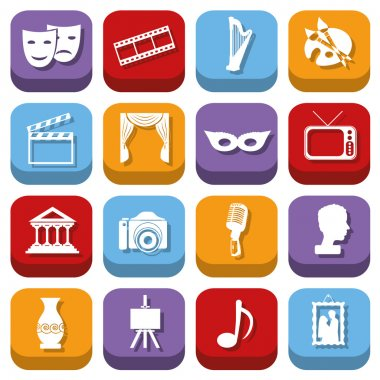 Culture icons stock vector