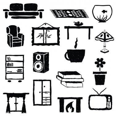 living room doodle images