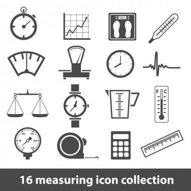 16 measuring icon collection clip art vector