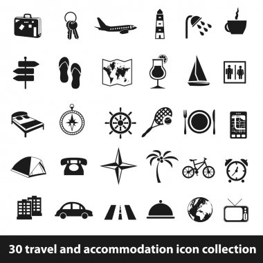 travel and accommodation icons