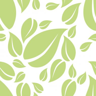 mint leaf seamless pattern