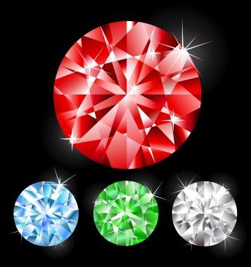 round cut stones