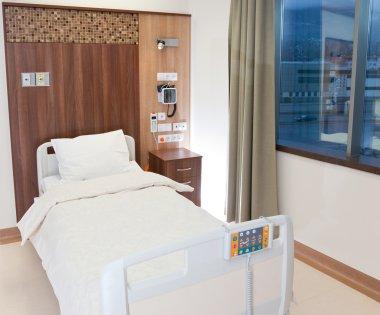 Empty modern hospital bed